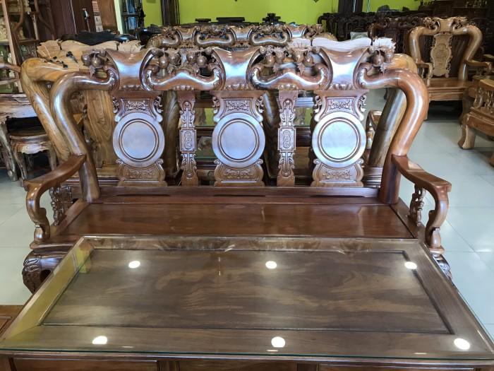Bộ bàn ghế phòng khách tay 10 gỗ lim giá siêu rẻ6