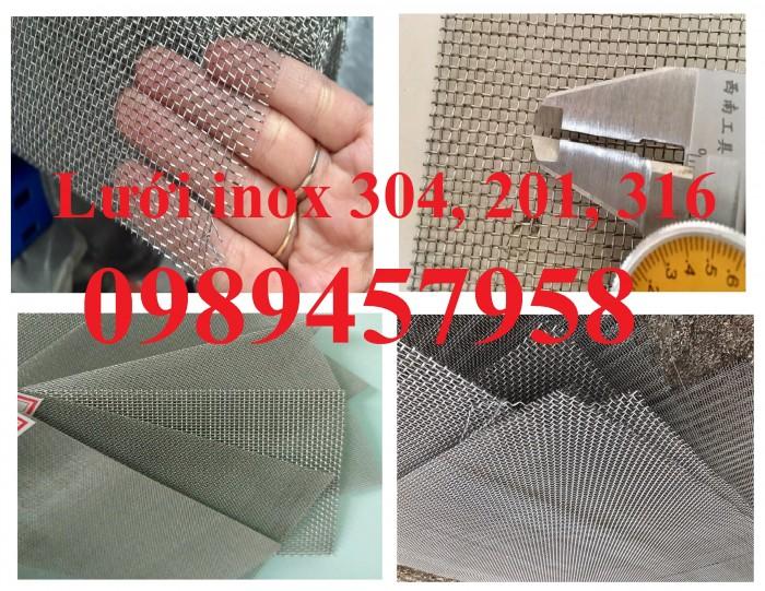 Lưới inox 304 5x5, 10x10, 20x20 khổ 1m, 1,2m, 1,5m, lưới đan inox3