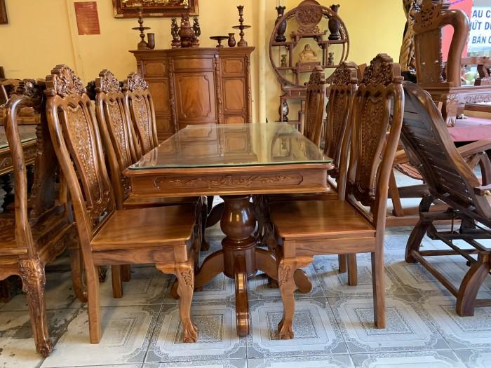 Bộ bàn ăn 6 ghế gỗ tự nhiên được ưa chuộng nhất tại Sài Gòn2