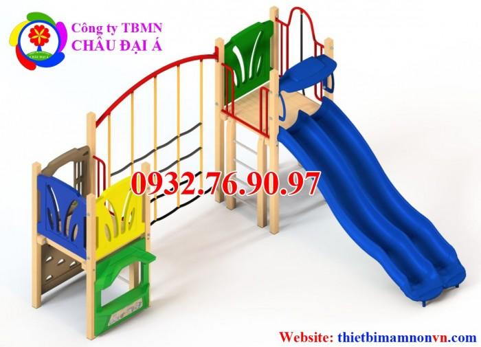 Cầu trượt xích đu, cầu trượt liên hoàn cho bé1