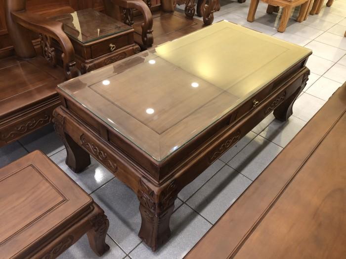 Bộ bàn ghế tay 12 chạm đào màu cổ điển sang trọng3
