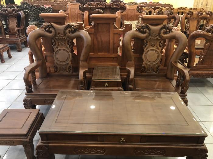 Bộ bàn ghế tay 12 chạm đào màu cổ điển sang trọng7