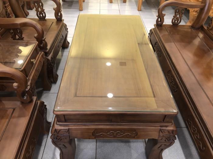 Bộ bàn ghế tay 12 chạm đào màu cổ điển sang trọng5