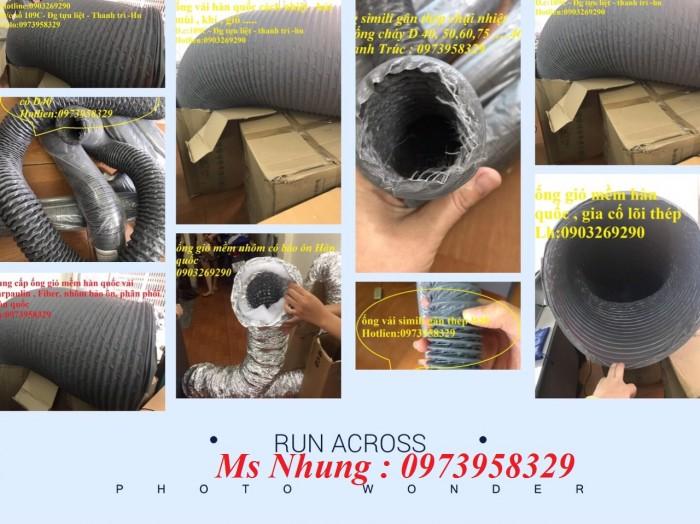 ống gió mềm vải hàn quốc Lh:09739583293