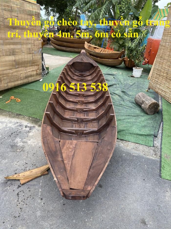 Thuyền gỗ bày hải sản, thuyền gỗ trang trí, thuyền gỗ có sẵn3