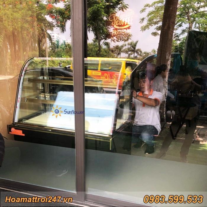 Tủ trưng bày bánh kem 3 tầng kính cong 1m21