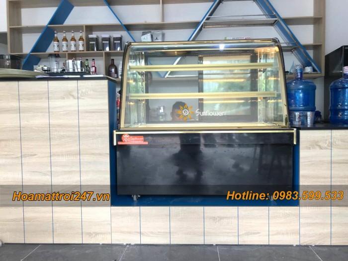 Tủ trưng bày bánh kem 3 tầng kính cong 1m23