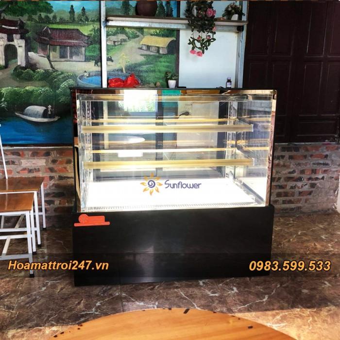 Tủ trưng bày bánh kem vuông 3 tầng 1m20