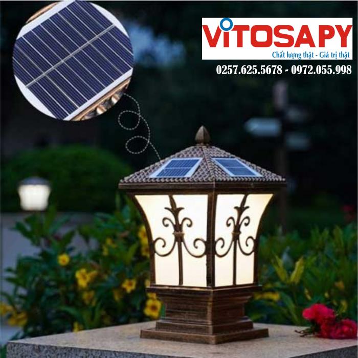 Đèn trụ cổng năng lượng mặt trời - Tuyển đại lý phân phối0
