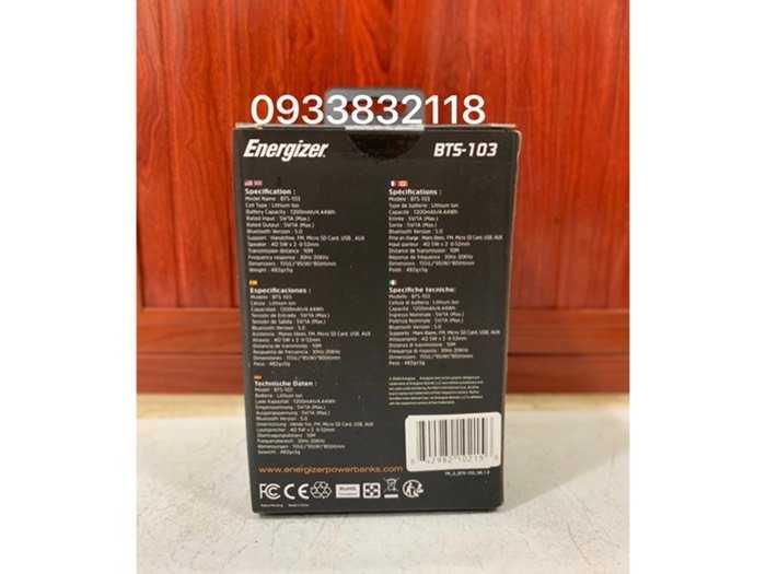 Loa Bluetooth tích hợp sạc dự phòng Energizer1