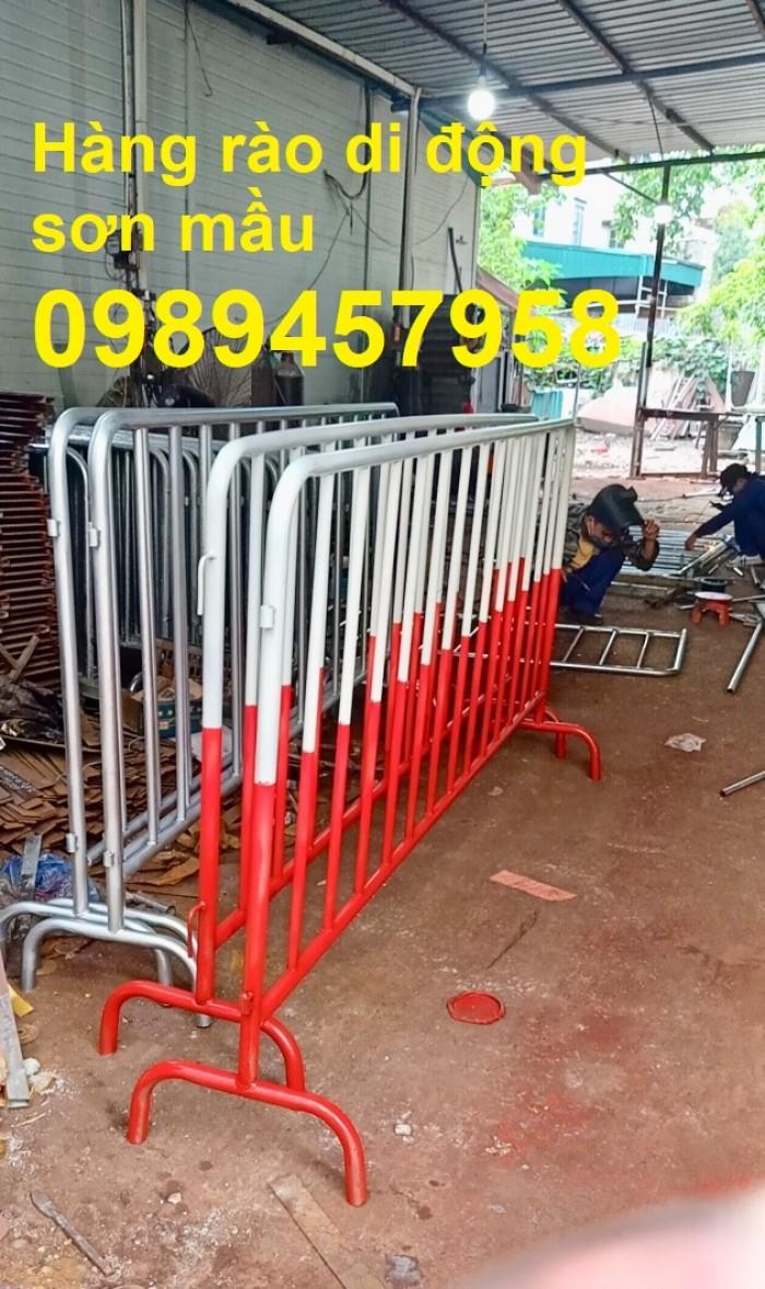 Rào chắn barie, hàng rào di động 1mx2m, 1,5mx2m6