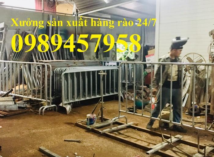 Rào chắn barie, hàng rào di động 1mx2m, 1,5mx2m5