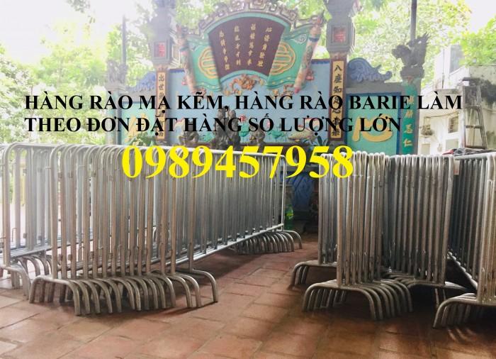 Rào chắn barie, hàng rào di động 1mx2m, 1,5mx2m7