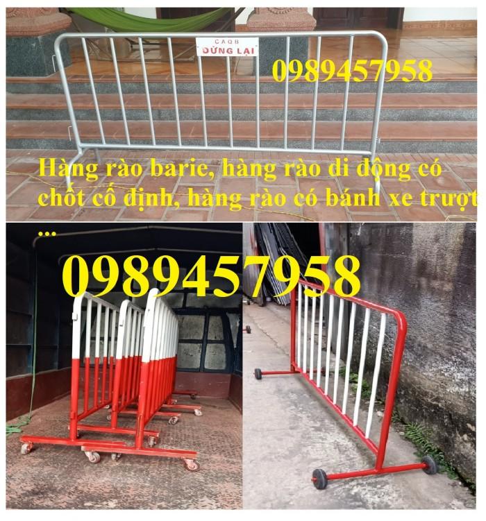Rào chắn barie, hàng rào di động 1mx2m, 1,5mx2m10