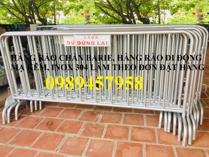 Hàng rào di động có bánh xe, hàng rào di động inox304 có sẵn