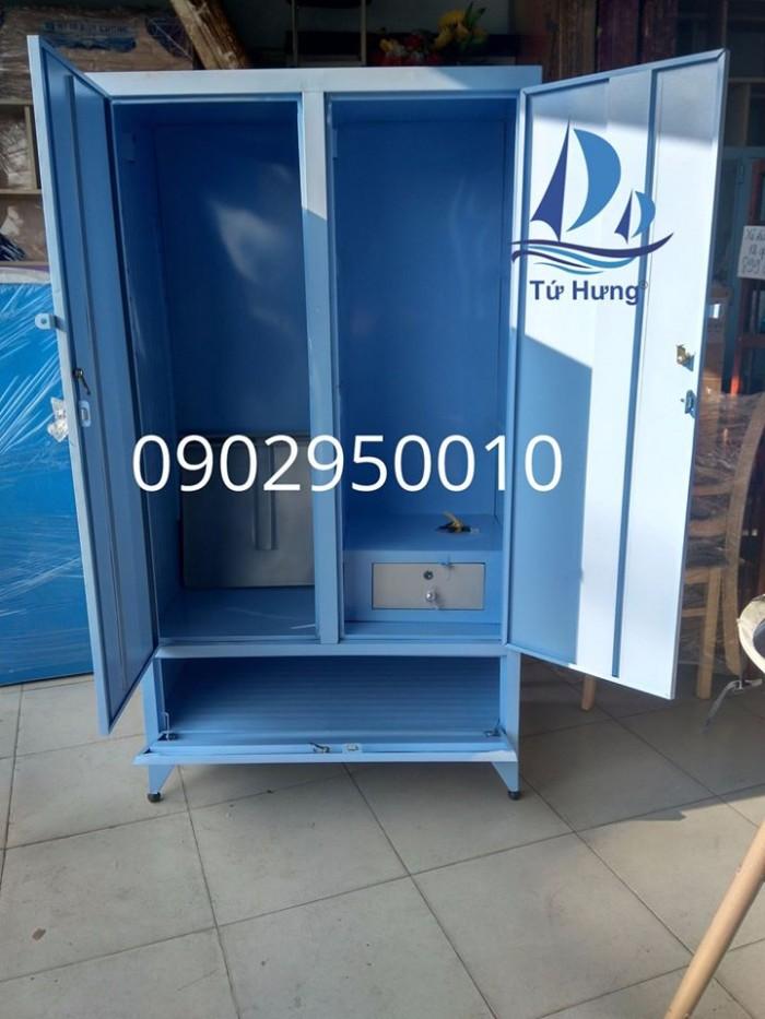 Tủ sắt quần áo sơn tĩnh điện 90x1m61