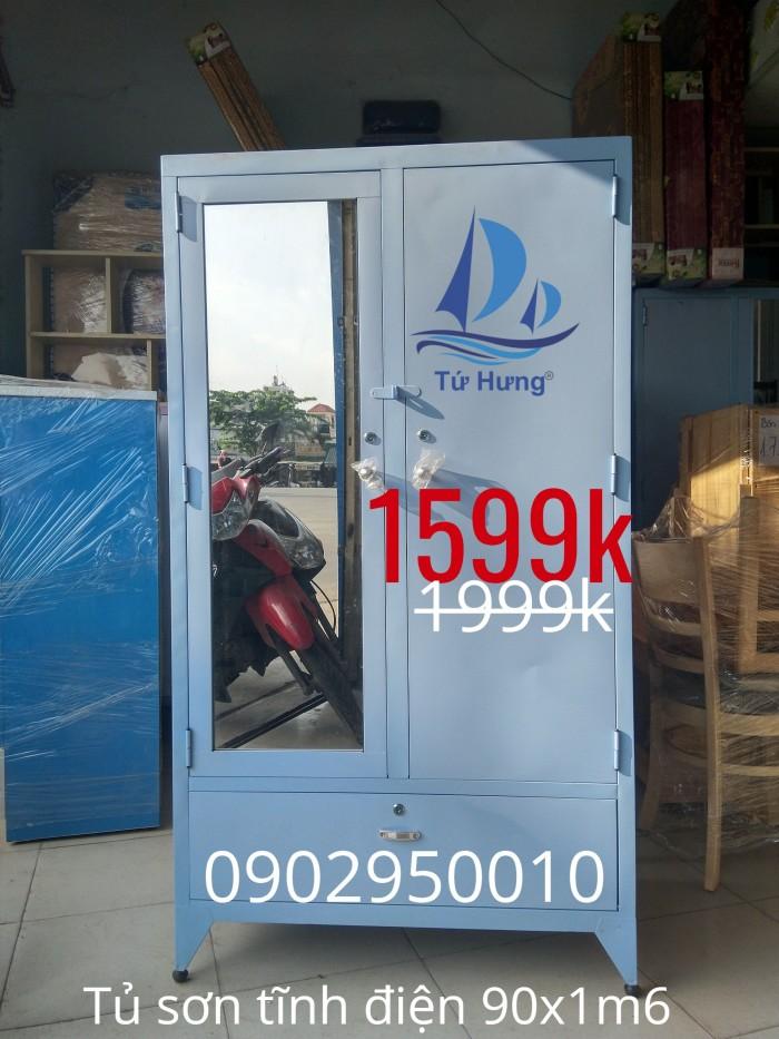 Tủ sắt quần áo sơn tĩnh điện 90x1m62