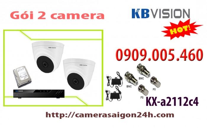 Gói 2 camera dome hồng ngoại 20 mét0