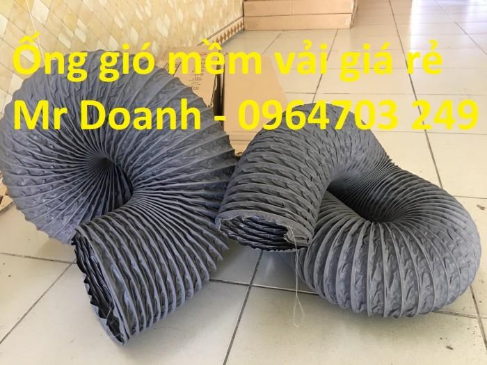 Ống gió mềm vải  Hàn Quốc dùng thông gió thông khí phi 200, phi 250, phi 300,...7