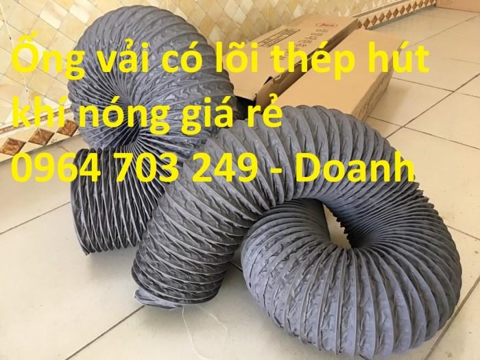 Ống gió mềm vải  Hàn Quốc dùng thông gió thông khí phi 200, phi 250, phi 300,...5