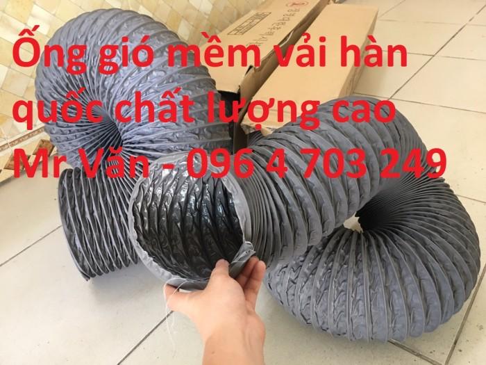 Ống gió mềm vải  Hàn Quốc dùng thông gió thông khí phi 200, phi 250, phi 300,...3