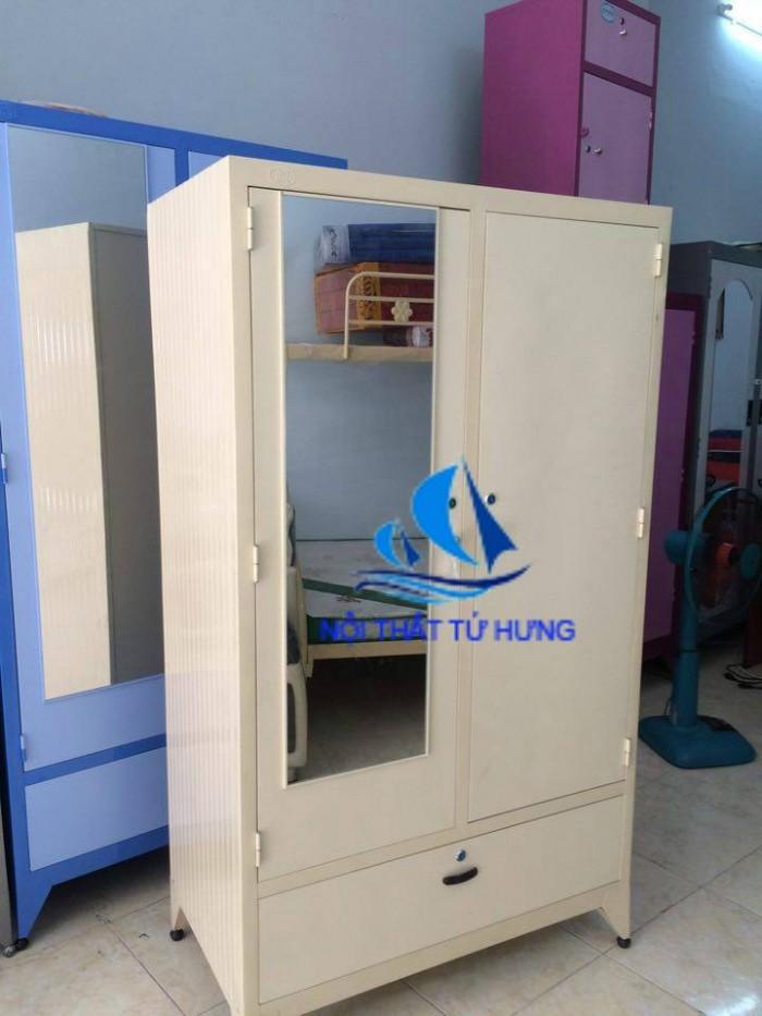 Tủ sắt sơn tĩnh điện đựng quần áo 90x1m81