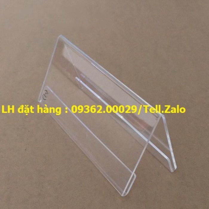 Bảng mica để giá sản phẩm- Kệ giá tiền mica trong uốn chữ L2