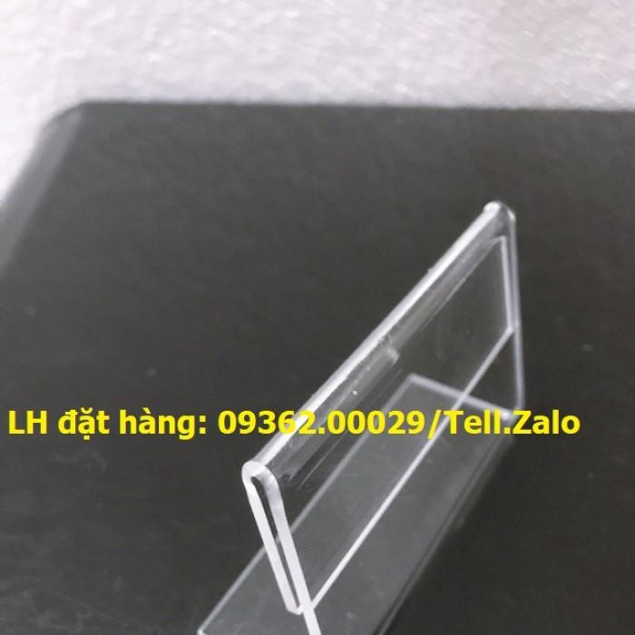 Bảng mica để giá sản phẩm- Kệ giá tiền mica trong uốn chữ L0