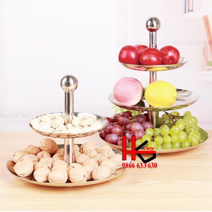 Kệ buffet trưng bày bánh; hoa quả 3 tầng