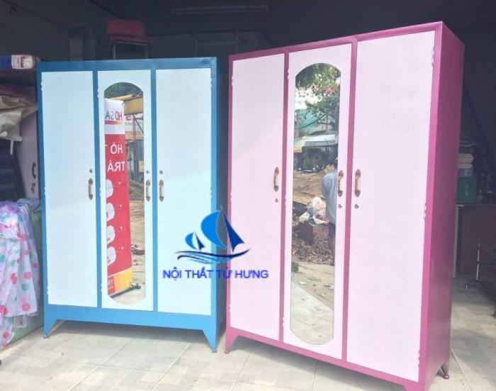 Tủ sắt quần áo giá rẻ 1m2x1m8 3 cánh1