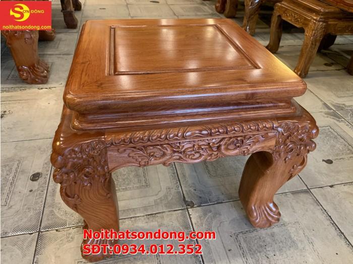 Bộ bàn ghế nghê đỉnh gỗ hương đá 6 món, tay 14 vip BBG0690