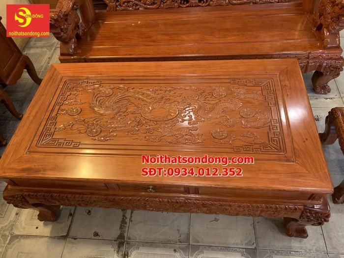 Bộ bàn ghế nghê đỉnh gỗ hương đá 6 món, tay 14 vip BBG0693