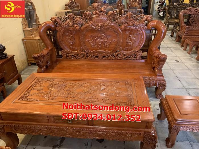 Bộ bàn ghế nghê đỉnh gỗ hương đá 6 món, tay 14 vip BBG0697