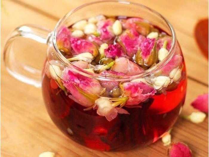 Trà hoa Nhài_hoa Hồng_ hoa Atisô đỏ1