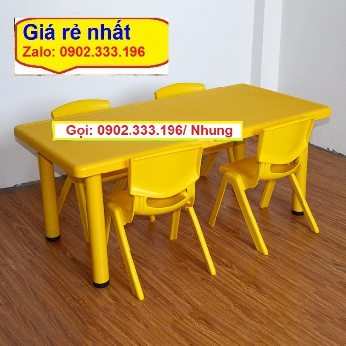 Cung cấp bàn ghế nhựa mầm non