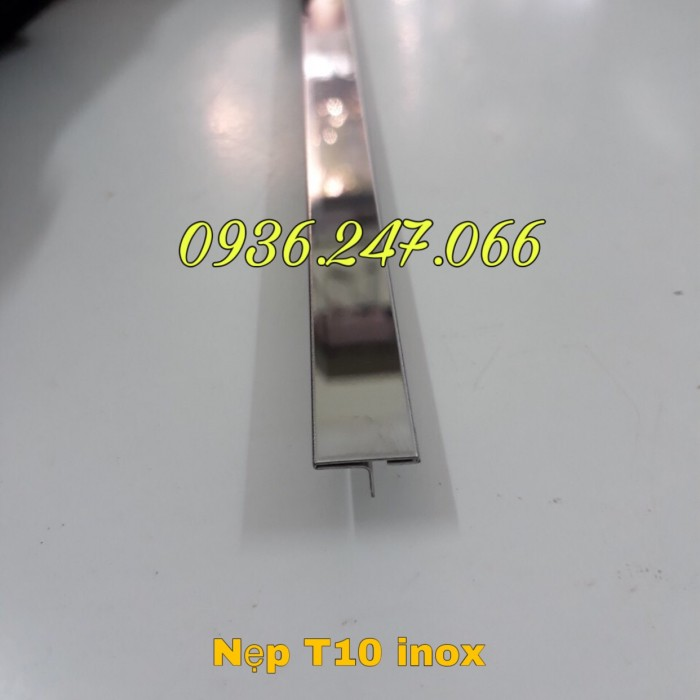 Nẹp chỉ vách T10 inox 304 trắng bóng0