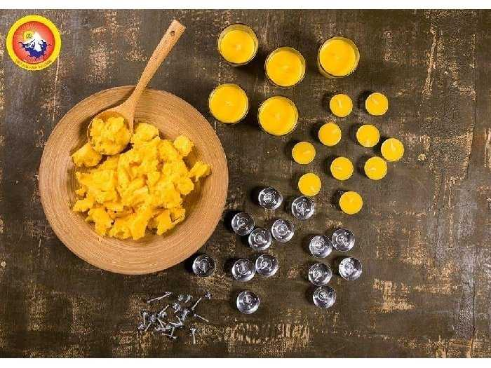 Nến Bơ Tealight Kalama Organic (100 viên0
