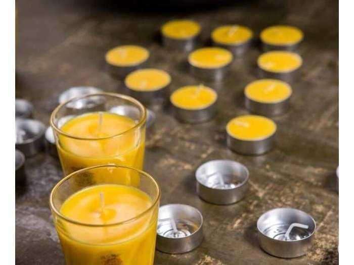 Nến Bơ Tealight Kalama Organic (100 viên1