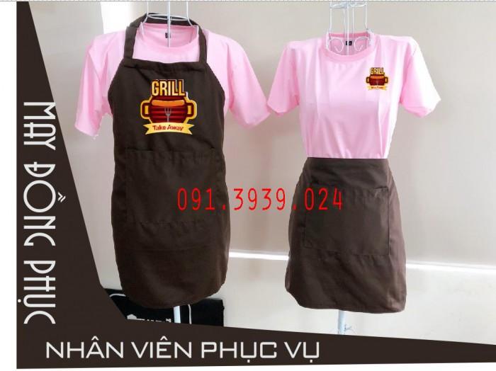 Áo thun đồng phục màu hồng, xưởng may đồng phục nhân viên quán ăn, quán cafe3