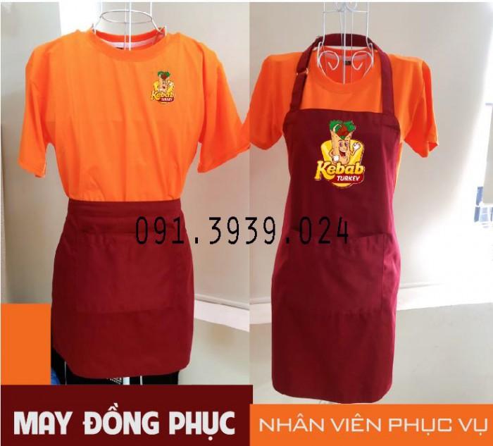 Áo thun đồng phục màu hồng, xưởng may đồng phục nhân viên quán ăn, quán cafe2