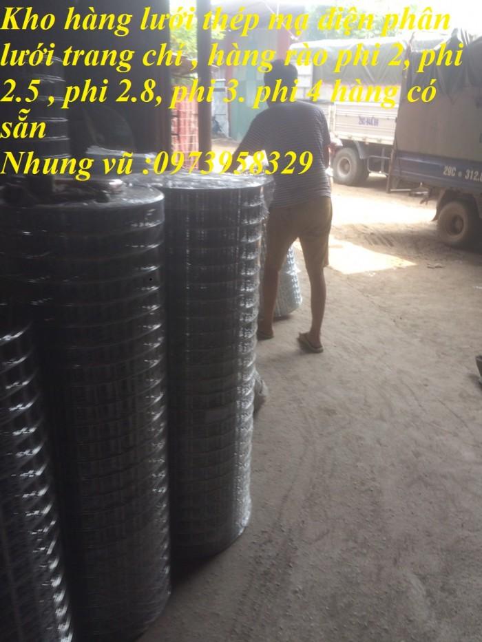 Bán sản phẩm lưới thép mạ điện phân D2, D2.2, D2.5, D2.7, D3 , D47