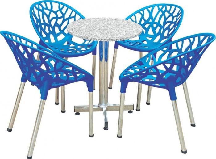 Ghế táo màu xanh lá bàn trân trụ mặt đá hoa cương làm tại xưởng sản xuất anh0