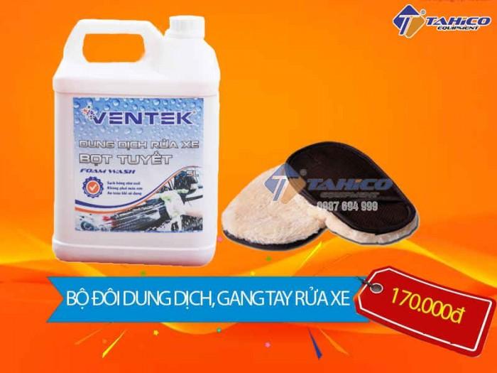 [COMBO] Bàn xoa lông cừu và dung dịch rửa xe bọt tuyết Ventek 5L tại Tân bÌnh2