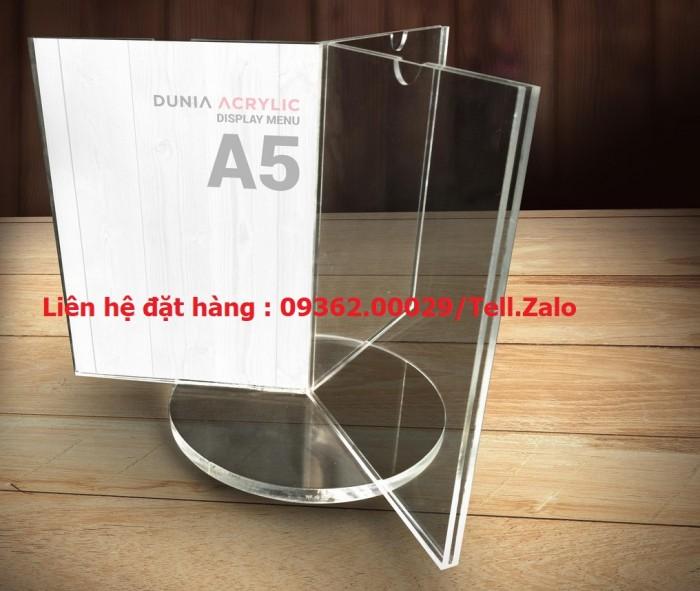 Kệ để tài liệu chất liệu mica xoay 360 độ4