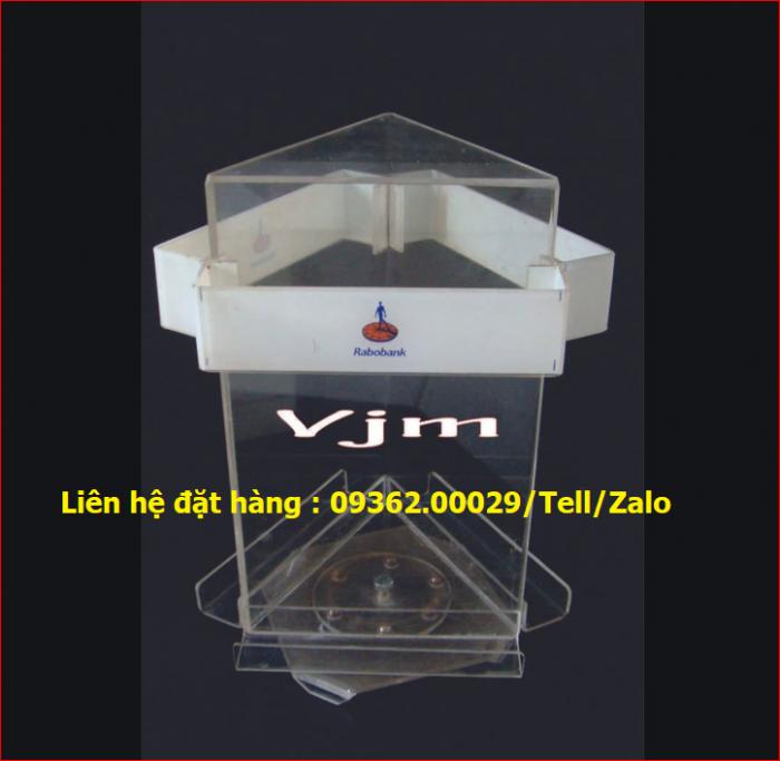 Kệ để tài liệu chất liệu mica xoay 360 độ3