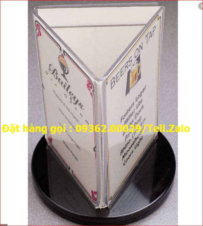 Kệ để tài liệu chất liệu mica xoay 360 độ14