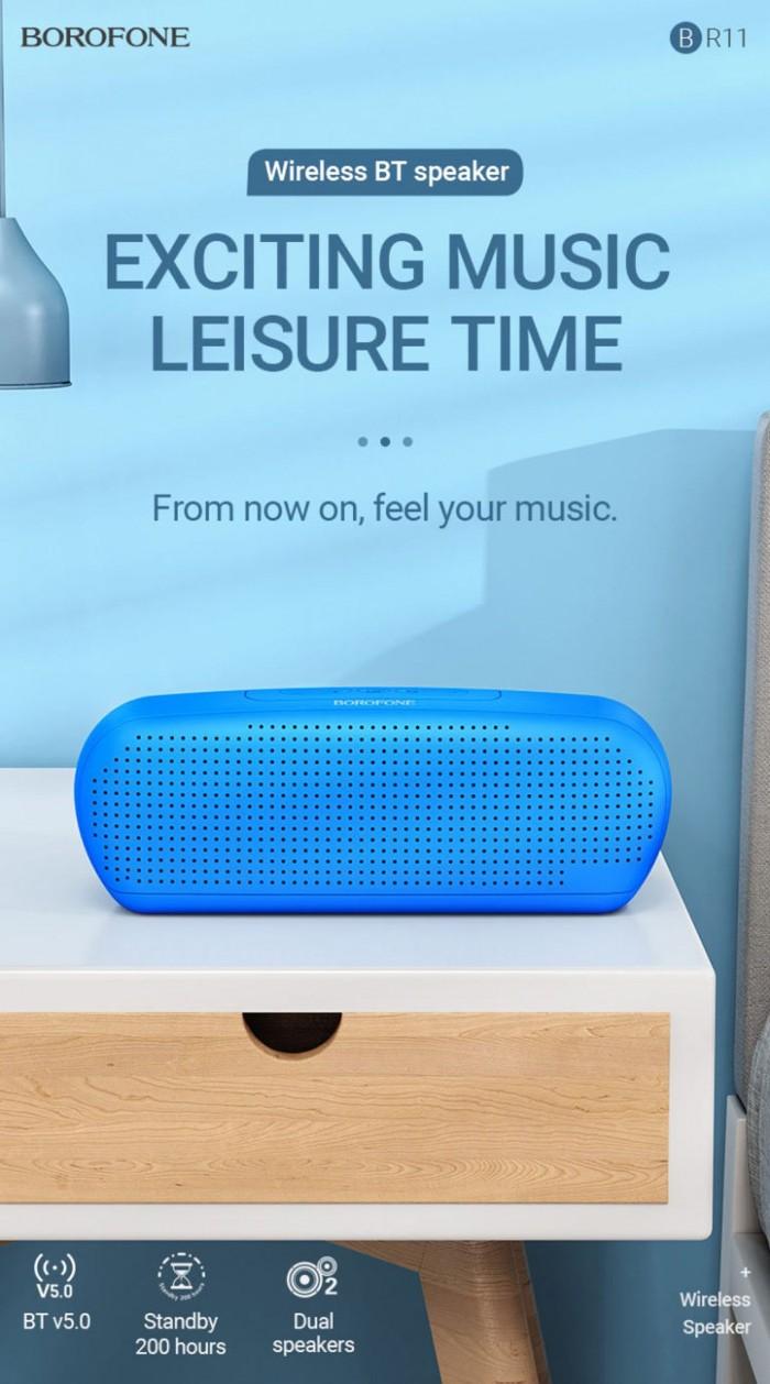 Loa Bluetooth 5.0 BR11 Borofone chính hãng,hỗ trợ thẻ nhớ,usb,FM7