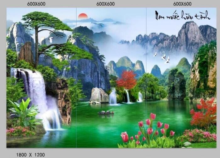 Tranh dán tường - tranh gạch phong cảnh1