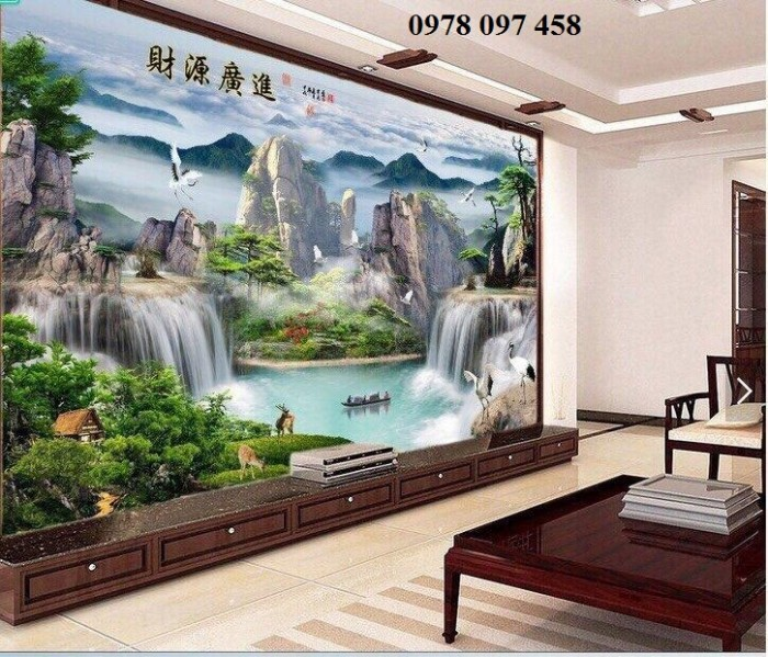 Tranh dán tường - tranh gạch phong cảnh2