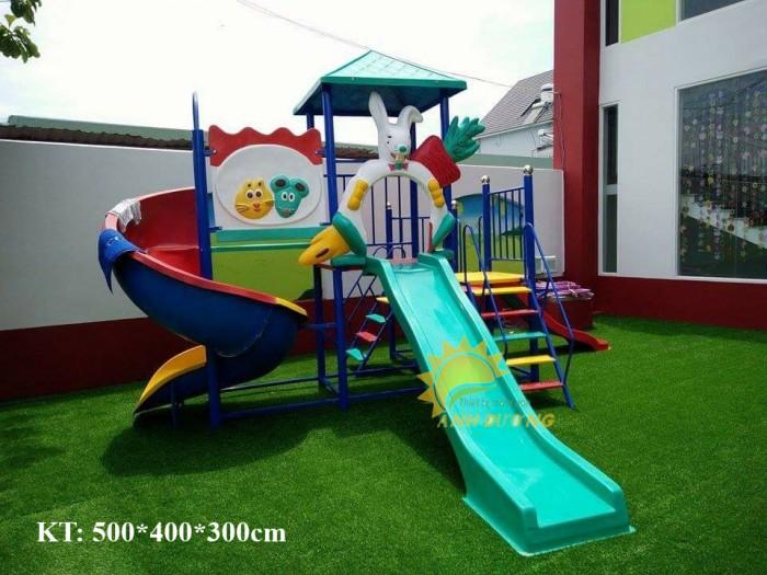 Bộ liên hoàn cầu trượt cho trường mầm non, sân chơi, khu vui chơi, TTTM5